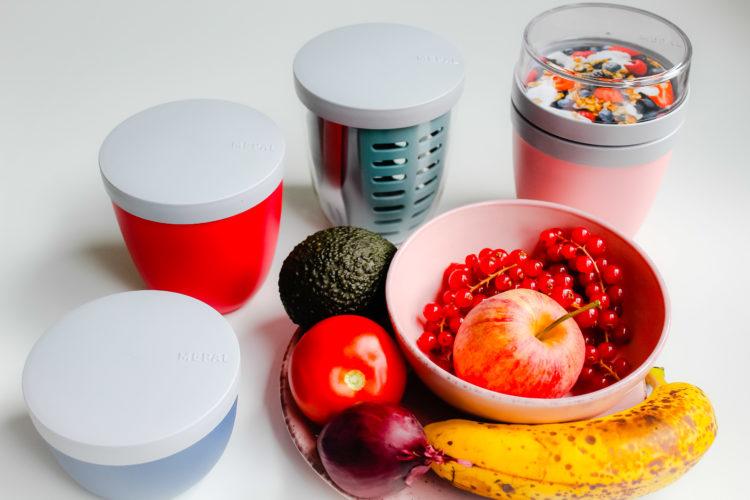 Mepla snackpotten en groeten en fruit