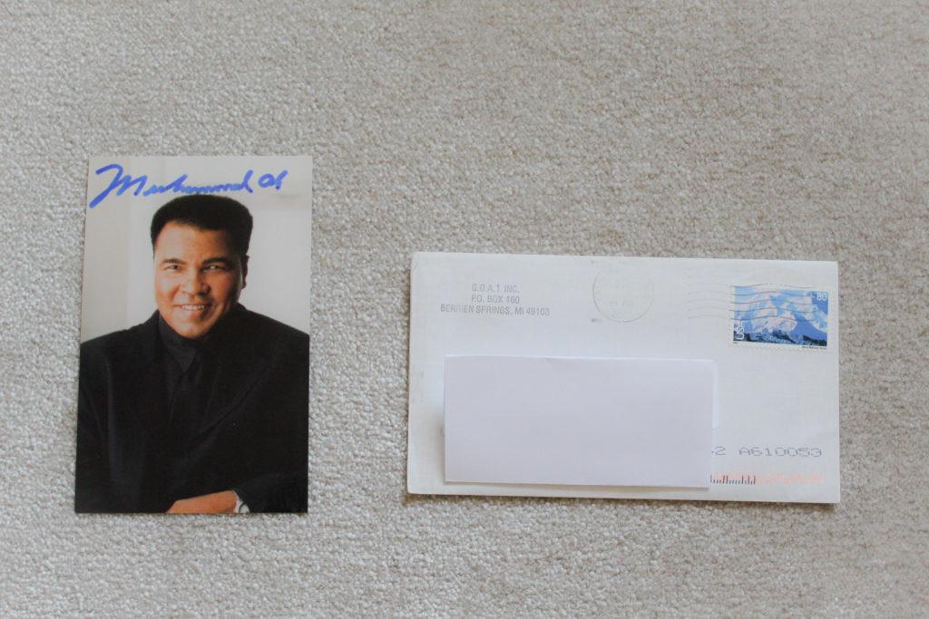 Autograph of Muhammad Ali